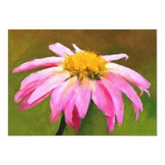 Pink Daisy 5x7 Mini Prints Personalized Invite