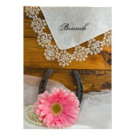 Pink Daisy and Lace Country Post Wedding Brunch Invitations