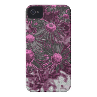 Pink Daisy Art Blackberry Bold Cell Phone Cover iPhone 4 Case-Mate Case
