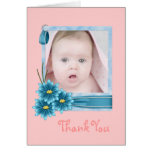 pink Daisy Baby Girl Personalized Photogift Card