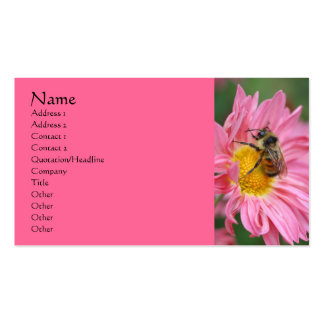 Pink Daisy Bee Flower Photography Business Card
