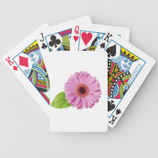 Pink Daisy Bicycle Playing Cards