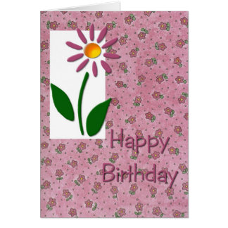 Pink Daisy Birthday Card
