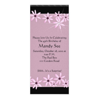 Pink Daisy Birthday Invitations