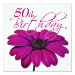 Pink daisy - Birthday Party Invitations