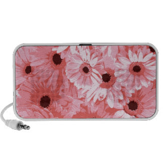 Pink Daisy Blossoms Art Nature Peace Love Destiny iPhone Speakers