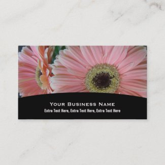Pink Daisy Business Card