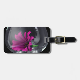 Pink Daisy Closeup In A Wine Glass Luggage Tag