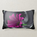 Pink Daisy Closeup In A Wine Glass Throw Pillow