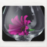 Pink Daisy Closeup In Wine Glass Mouse Pad