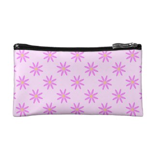 Pink Daisy Cosmetic Bag