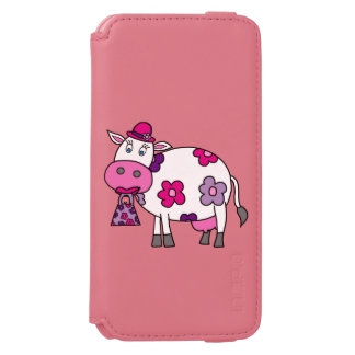 Pink Daisy Cow iPhone 6/6s Wallet Case