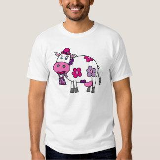 Pink Daisy Cow Shirt