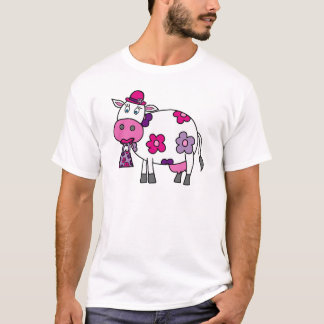Pink Daisy Cow T-Shirt