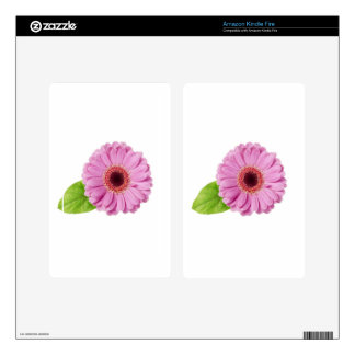 Pink Daisy Decals For Kindle Fire