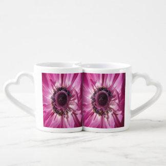 Pink Daisy Duo Coffee Mug Set