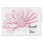 Pink Daisy Effect Wedding Bridesmaid Thank You Greeting Card