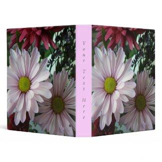 Pink Daisy Floral Binder binder