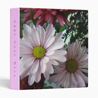 Pink Daisy Floral Binder