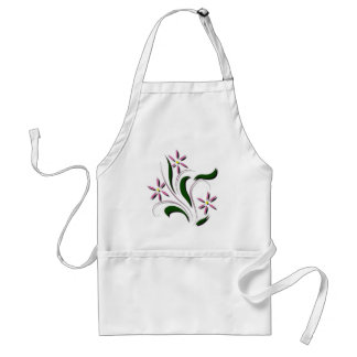 Pink Daisy Flower Adult Apron