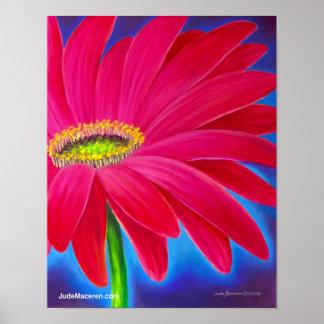 Pink Daisy Flower Art Giclee - Poster
