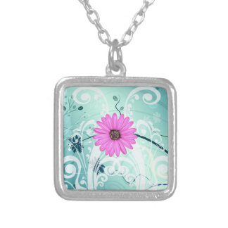 Pink Daisy Flowers Beautiful Design Personalized Necklace