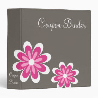 Pink Daisy Flowers Coupon Organizer Binder