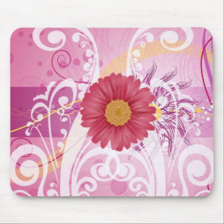 Pink Daisy Flowers Pictures Design Mouse Pad