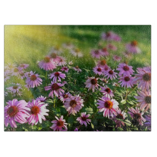 Pink Daisy Garden Cutting Board