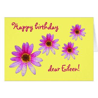 Pink Daisy Happy Birthday Eileen card