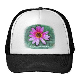 Pink Daisy I am a Survivor Gift Ideas Trucker Hat