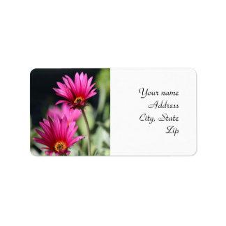 Pink Daisy Label