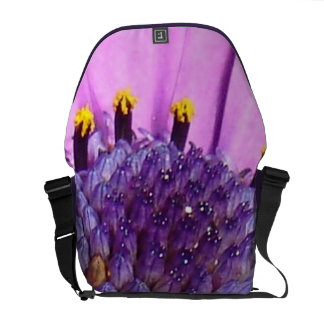 Pink Daisy Macro Courier Bag