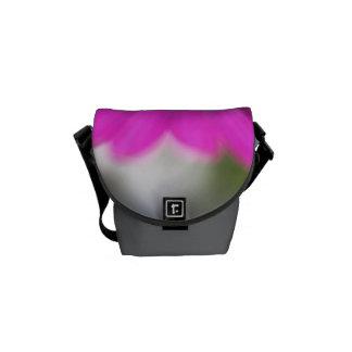Pink Daisy Mini Messenger Bag Outside Print