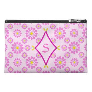 Pink Daisy Monogram Bag
