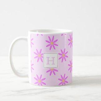 Pink Daisy: Monogram Mug