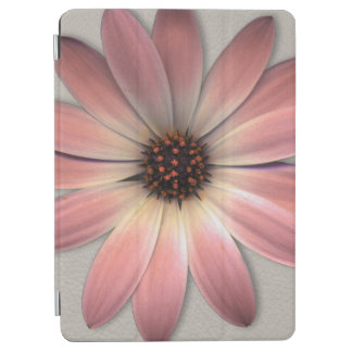 Pink daisy on Mink Leather Print iPad Air Cover
