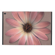 Pink Daisy on Taupe Leather Print Powis iPad Air 2 Case (<em>$61.00</em>)