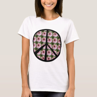Pink Daisy Peace Sign T-Shirt
