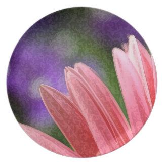 Pink Daisy Plate