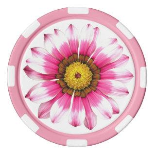 Pink Daisy Poker Chips at Zazzle