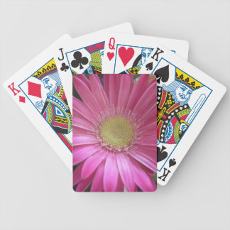 Pink Daisy Princess Bicycle Playing Cards