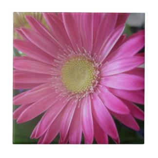 Pink Daisy Princess Ceramic Tile