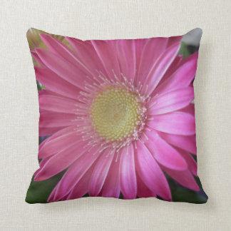 Pink Daisy Princess Throw Pillow