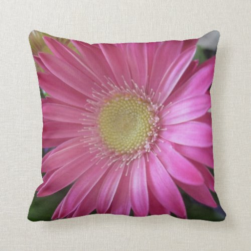 Pink Daisy Princess Throw Pillows