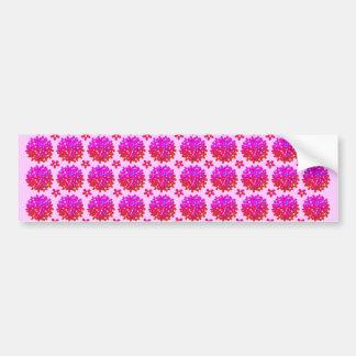 Pink Daisy Puffs Car Bumper Sticker