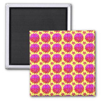 Pink Daisy Puffs Magnet