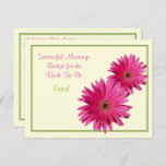 Pink Daisy Recipe Card for a Successful Marriage