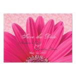 Pink Daisy Save the Date Announcement Invitation