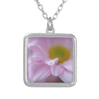 Pink Daisy Silver Plated Necklace